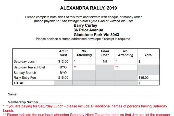 Alexandra Rally 2019
