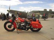 Micks bike 'Wendy' and a Spitfire