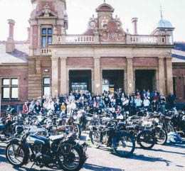 Maryborough 50th Rally outside Train Station